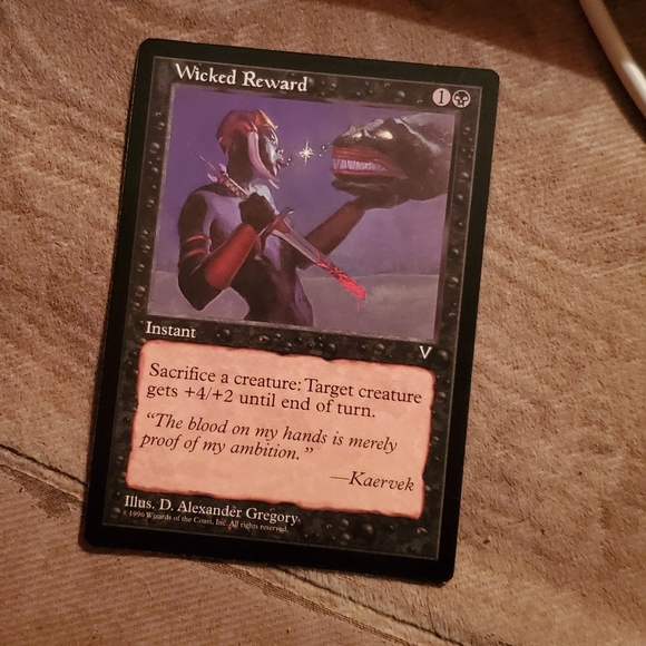 Other - Wicked reward magic card